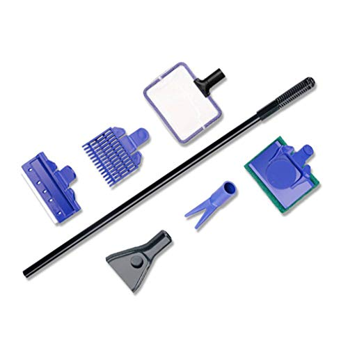 Zerama Londa 5 in 1 Komplett Aquarium reinigen Set Fisch Net Rake Scraper Gabel Sponge - Aquarium Kit Net