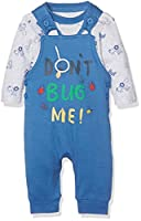 Mothercare Boy's Don't Bug Me Dungarees, Blue, 9-12 Months (Manufacturer Size:80)