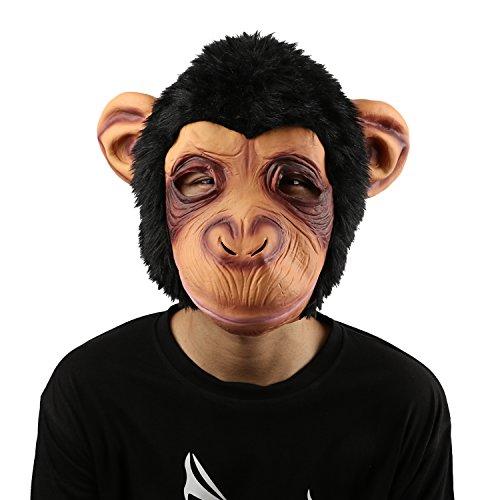 Xiao MO GU Latex Halloween-Kostüm Dekorationen für Erwachsene und Kids Animal Head Maske orangutan (Ziemlich Cool Halloween Kostüme)