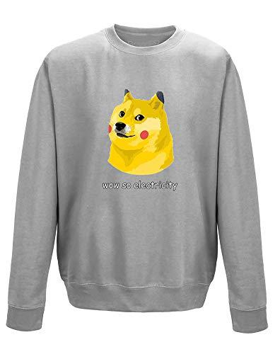 Dogeachu, Erwachsene Gedrucktes Sweatshirt - Grau S = 92cm