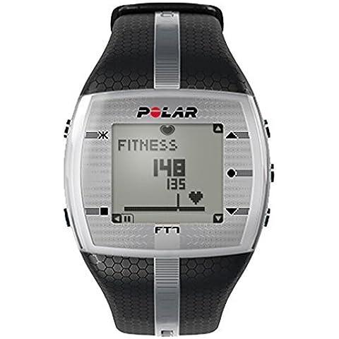 Polar FT7–Pulsómetro, correa–M, (Plata/Negro)