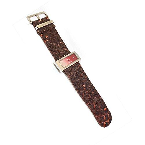 Roberto Cavalli Reloj mujer Baguette 3H de acero piel serpiente