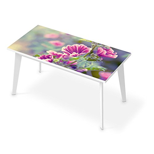 creatisto Film amovible décoratif TABLE | Mosaique murale - Décorer plateau de TABLE BASSE | Design Flower Gaze | 150x75 cm