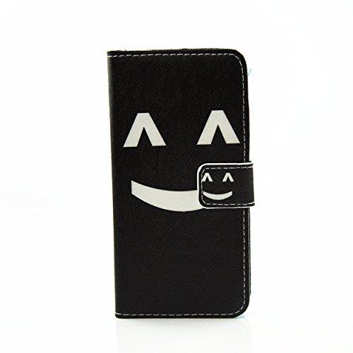 Voguecase Pour Apple iPhone 7 4,7 Coque, Etui Housse Cuir Portefeuille Case Cover (Avion en papier)de Gratuit stylet l'écran aléatoire universelle visage souriant
