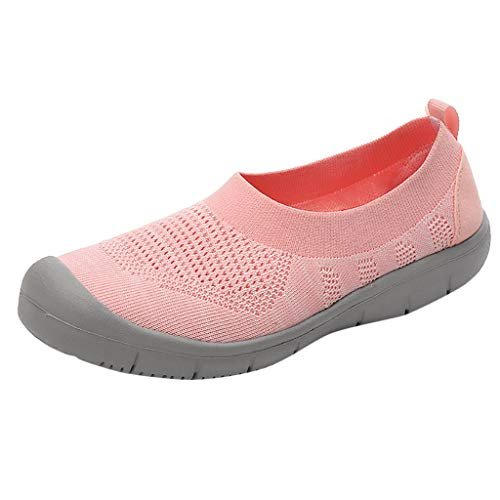NMERWT Damen Sneakers Wanderschuhe Outdoor Schuhe Freizeit Frauen Slip-On Pumps Fashion Sneakers Casual Atmungsaktiv Mesh Flexible Socken Schuhe -