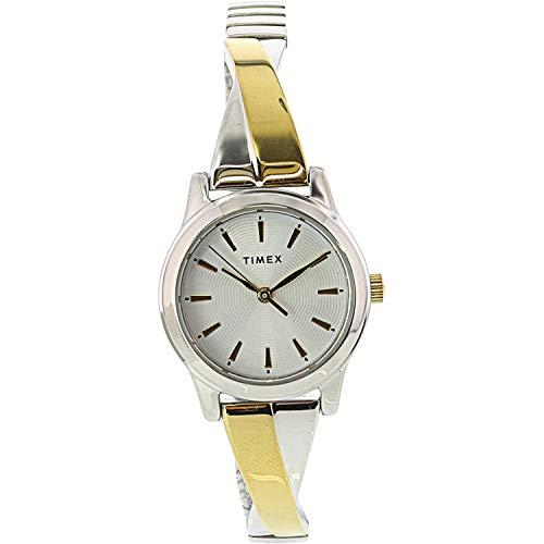 Timex Women's Stretch Bangle TW2R98600 Silver Stainless-Steel Japanese Quartz Fashion Watch