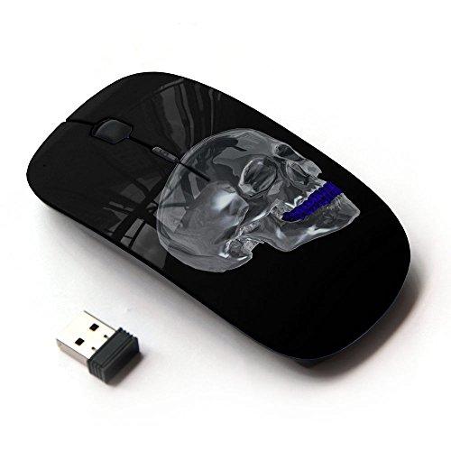 KawaiiMouse [ Mouse Senza Fili Ottico 2.4G ] Chrome Skull