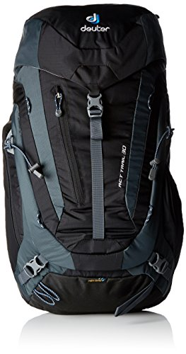 Deuter ACT Trail Mochila para Montaña, Unisex adulto, Negro (Black / Granite), 30 l