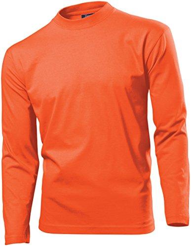 Hanes Heavy-T Langarmshirt Langarm T-Shirt Gr.S, orange S,Orange (Hanes Langarm-t-shirts Für Männer)