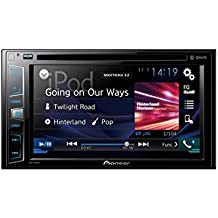 "Pioneer AVH-X390BT - Pantalla Multimedia Doble, Bluetooth, pantalla táctil WVGA de 6.2"" Clear Type, salida 4 V, color negro"