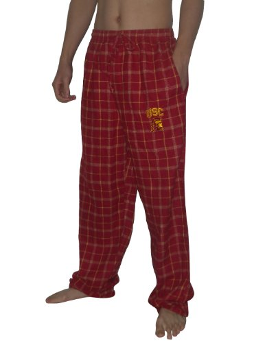 ncaa-southern-california-trojans-homme-fall-winter-plaid-pajama-pants-2xl-red