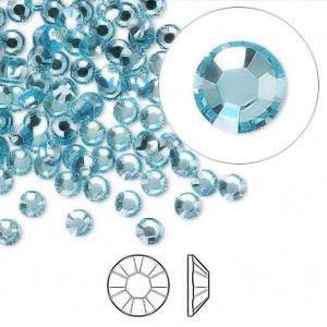 Tamis Place Aquamarin Kristall Strass Flatback 144Swarovski Size 16Ss 3.8Mm -
