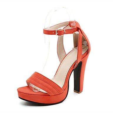 LvYuan Damen-Sandalen-Lässig-Kunstleder-Blockabsatz-Andere Club-Schuhe-Schwarz Rosa Orange Pink