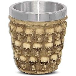 mtb more energy Copa Skulls - Vaso pequeño (5cl) - Calavera cráneo - Altura 6 cm - Decorazione Horror Medieval Fantástico