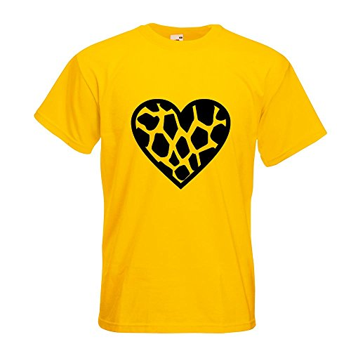 KIWISTAR - Giraffe T-Shirt in 15 verschiedenen Farben - Herren Funshirt bedruckt Design Sprüche Spruch Motive Oberteil Baumwolle Print Größe S M L XL XXL Gelb