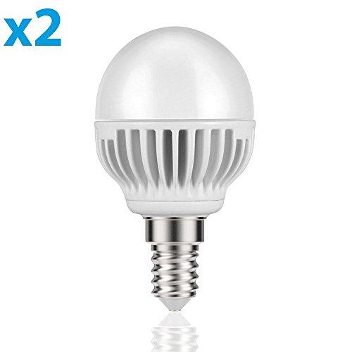 parlat E14 LED Lampadina 5W =32W 350lm 140° bianca calda, 2 PZ