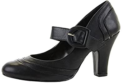 Black Leather Size 3 - Ladies Womens Low Mid High Kitten Heel Work Formal Office Pumps Court Shoes