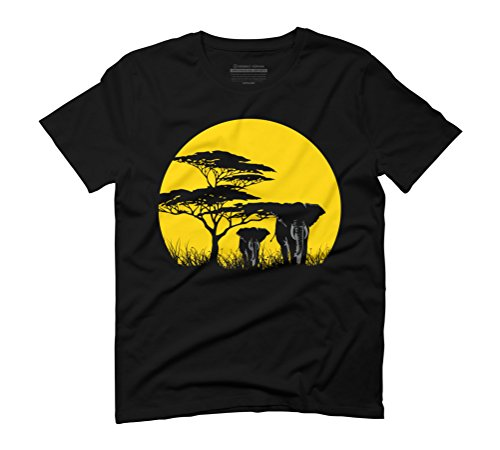 SUN AFRICA Men's Graphic T-Shirt - Design By Humans Black