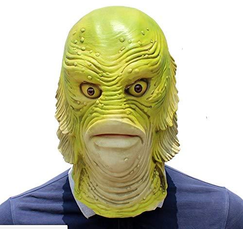 Halloween Horror Fisch Kopf Maske Karneval Party Verkleiden Sich Maskerade Lustige Requisiten