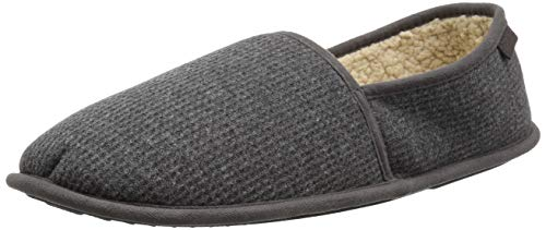 Heather Grey Thermal (Dearfoams Herren Thermal Closed Back Slipper, Grey Heather, Large)