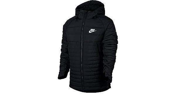 Nike Jacke – Sportswear Advance 15 Syn Fill schwarz weiß Größe  L (Large)   Amazon.de  Bekleidung 53d241896d