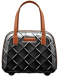 Stratic Leather & More Beauty Case Case, 36 cm, 15 liters, Black