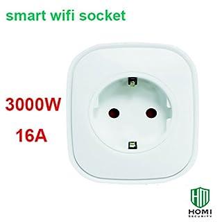 HEIMAN Europa-Typ Leistungsmessung Wifi Smart Steckdose Stecker 16A 3000W