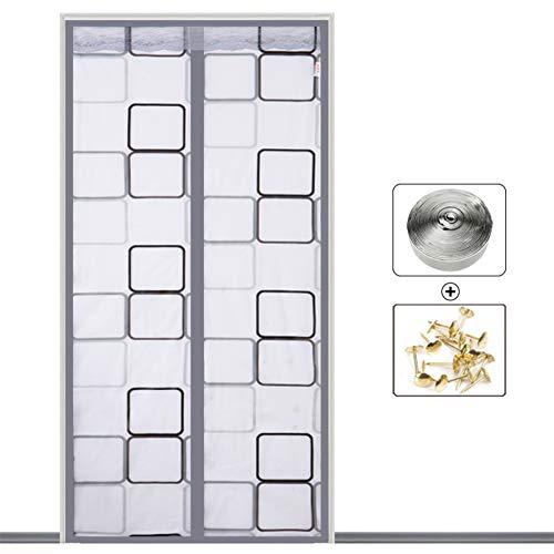 Klimaanlage Vorhang Anti-Moskito-Küche Anti-Rauch-Weichplastik Partition Vorhang Free Punch Installation (Klettverschluss),B-110 * 220 - 110 Punch