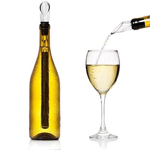 iStwahl Weinkühler - Premium 2 in 1 Flaschenkühler Edelstahl Kühlstab mit Dekantierausgießer