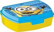 Questa scatola porta merenda di plastica gialla è un articolo in licenza ufficiale Minions.Dimensioni: 16 x 12 x 5 cm.Ne sconsigliamo il lavaggio in lavastoviglie e luso in forno a microonde.Per una merenda davvero magica, offri ai tuoi bamb...
