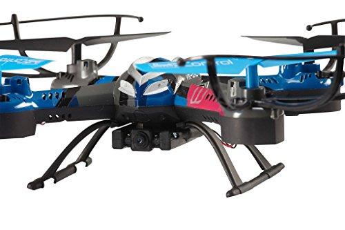 Revell Control RC VR Quadrocopter mit FPV Kamera und VR-Brille, Live-Übertragung über WiFi, Video-Stream aufs eigene Smartphone, ferngesteuert mit 2,4 GHz Fernsteuerung, Wechsel-Akku, VR SHOT 23908 - 3