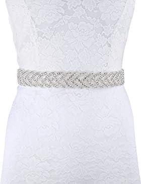 BABEYOND Rhinestone vestido de novia cinturones y martillos marfil cristal Applique cinturón cintura nupcial cintura...