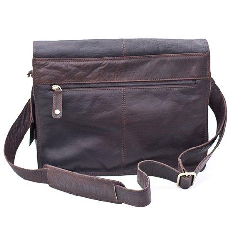 Twenty8 Leather , Borsa Messenger Marrone scuro