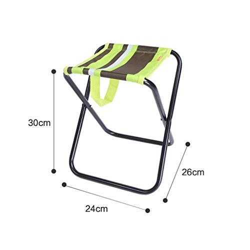 WRZHRXXH Falten Hocker Klein Maza Tragbar Mini Fischen Stuhl Falten Multi-Funktion Einfach Zu Tragen Trainieren Erwachsener Falten Hocker Skizzieren Stuhl-Grün