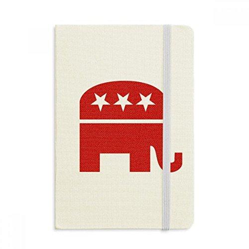 Klassische Republikanische Elefant (DIYthinker Amerika Elefant Emblem Republikanische Partei Rot Notebook Stoff Hard Cover Klassisches Journal Tagebuch A5 A5 (144 X 210mm) Mehrfarbig)