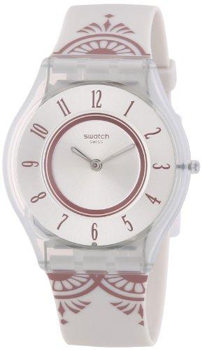 Swatch Skin Cuivre De Lume SFW105 - Orologio da polso da donna, cinturino in silicone colore grigio