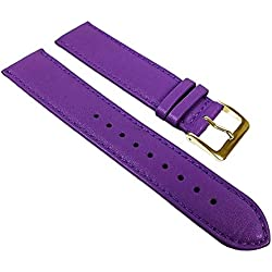 Miami Replacement Band Watch Band kalf nappa Strap purple 22600G, width:19mm