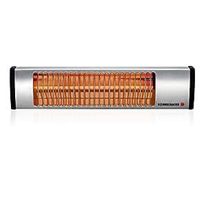 ROMMELSBACHER IW 604/E Wickeltisch-Heizstrahler (Infrarotstrahler ohne Vorheizzeit, schnell, sicher & energiesparend, wohlige Wärme im Bad, Hobbyraum, Wintergarten, etc, 600 Watt) Edelstahl