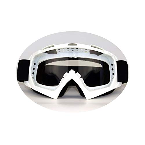 KnSam Winddicht Uv-Beständig Fahrradbrille Transparent Kratzfester Scheibe Panoramablickfeld Weiß Transparent Schutzbrille