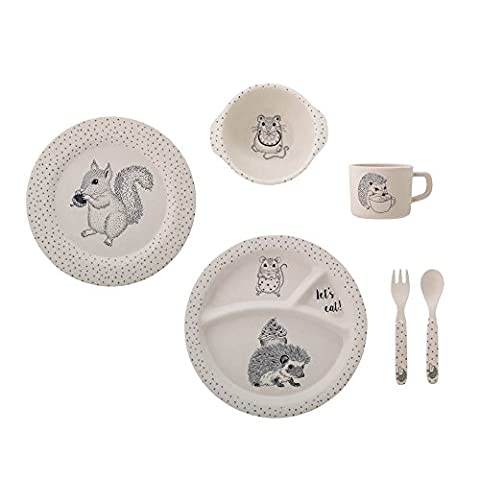Alex Serving Set, Nature, Bamboo Ø22xH6,5 cm, Pack of 6