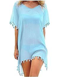 Vestido de Playa para Mujer Vestido de Verano Bikini Cubre Ropa de Playa de Verano Borlas