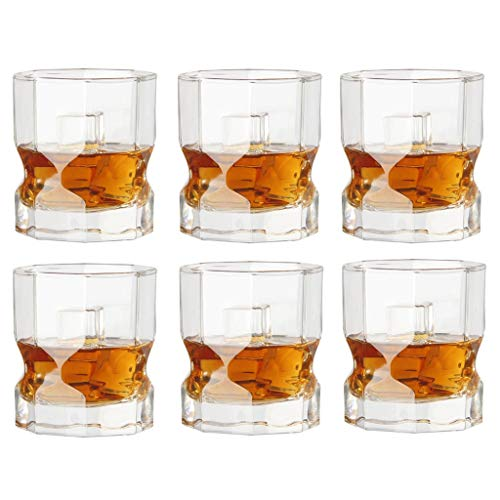FFFLY Unzerbrechliche personalisierte stammlose Hochzeitsfeier Camping große Rotweinglas Bier Tasse Wasser Tasse 6er-Set, Moderne kreative Kristall Glas Weinglas Charme 300ml, Spülmaschine Sicherheit