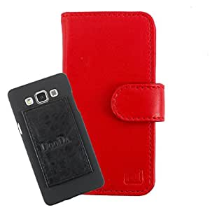 DooDa Genuine Leather Wallet Flip Case Cover With Card & ID Slots For iBall 4.5d Quadro - Back Cover Not Included Peel And Paste