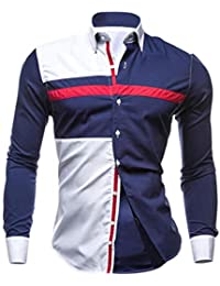 Diseño de Calidad del otoño de los Hombres de Costura Camisas de Manga Larga Oxford Trajes
