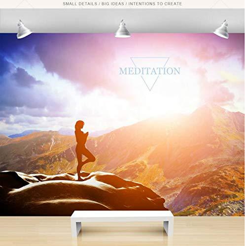 Preisvergleich Produktbild Yoga Museum Tanzzimmer Tapeten Hintergrund Wandbilder 3D Wand Papier Heimwerker Dekorative Tapeten Für Wände-250cmX310cm