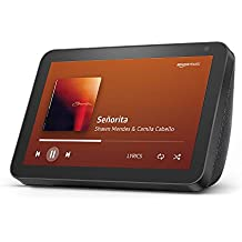 """Introducing Echo Show 8 – Smart display with Alexa - 8"""" HD screen with stereo sound – Black"""
