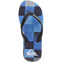 Quiksilver Molokai Resin Check, Zapatos de Playa y Piscina para Niños, Azul (Black Blue Xkbb), 36 EU
