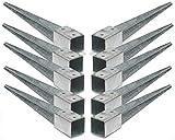 10 Stück Bodenhülsen Einschlaghülsen 90mm Pfosten-träger 75 cm lang Holz-Lamellen-zaun