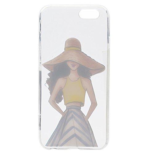 Per iPhone 6 / iPhone 6S Cover , YIGA spiaggia di sabbia ragazza Sottile Cristallo Chiaro Case Trasparente Silicone Morbido TPU Custodia per Apple iPhone 6 iPhone 6S (4.7) TT18