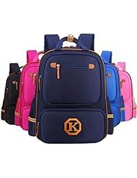 Preisvergleich für Freitop Schulrucksack mit Reflexstreifen ab 5 Jahre Marineblau Schulranzen Rucksack Kindergartenrucksack Schultasche...